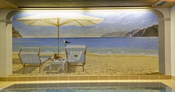 Gemälde Schwimmbad